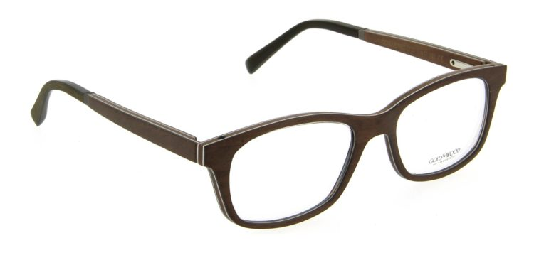 Lunettes Gold and Wood oculus neo 01 03 bois fonce silver