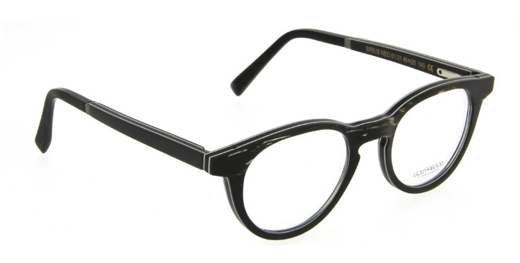Lunettes Gold and Wood sirius neo 01 01 bois corne noir silver