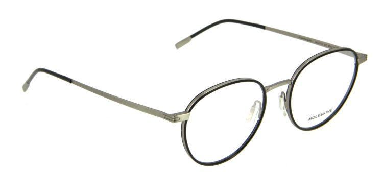 Lunettes Moleskine m02112 00 métal noir argente
