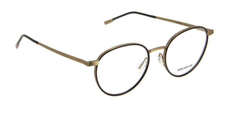Lunettes Moleskine mo2112 70 métal noir dore