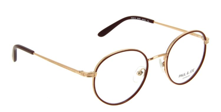 Lunettes Paul and Joe rozy21 bxor or rouge bordeaux