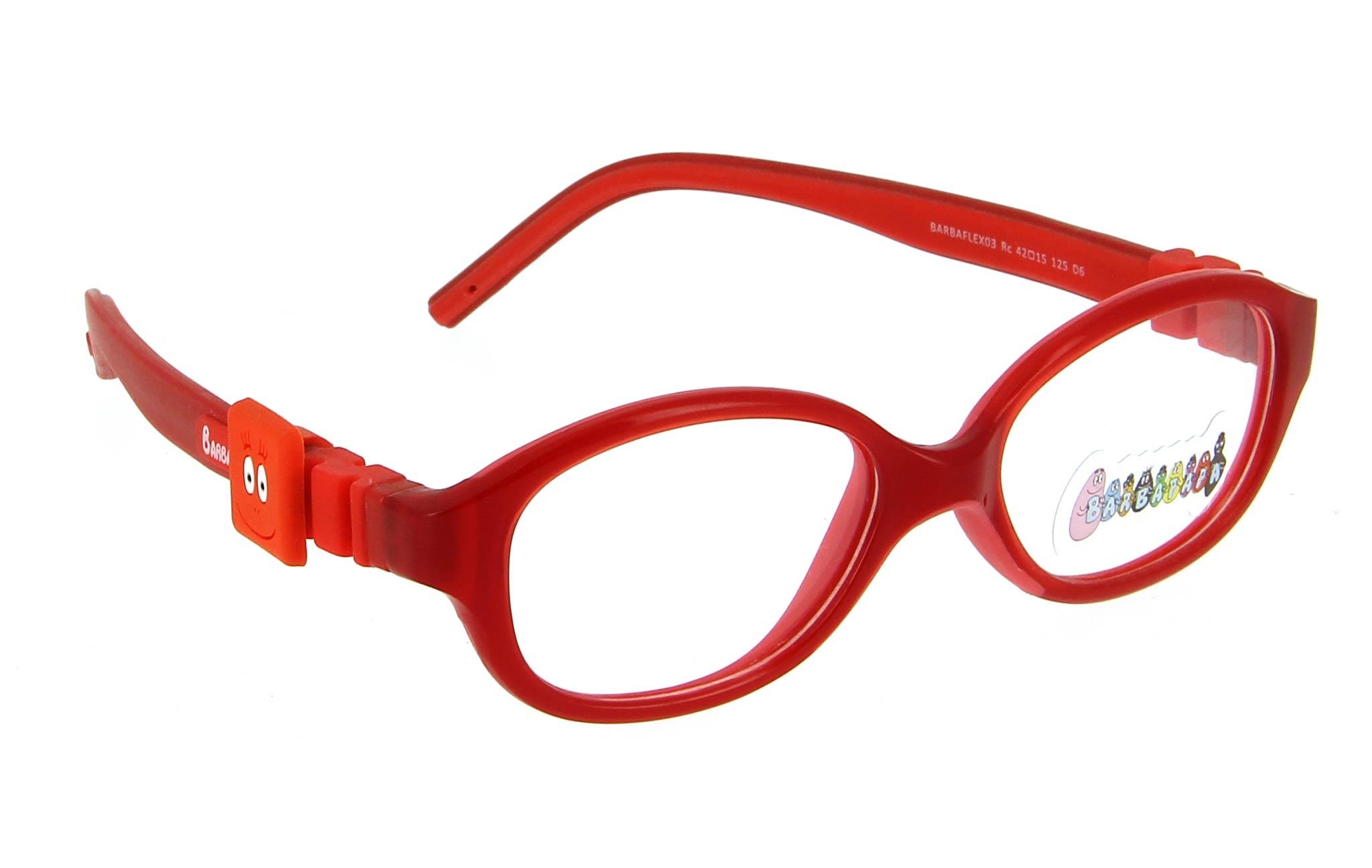 lunettes enfant barbapapa barbaflex03 rc rouge
