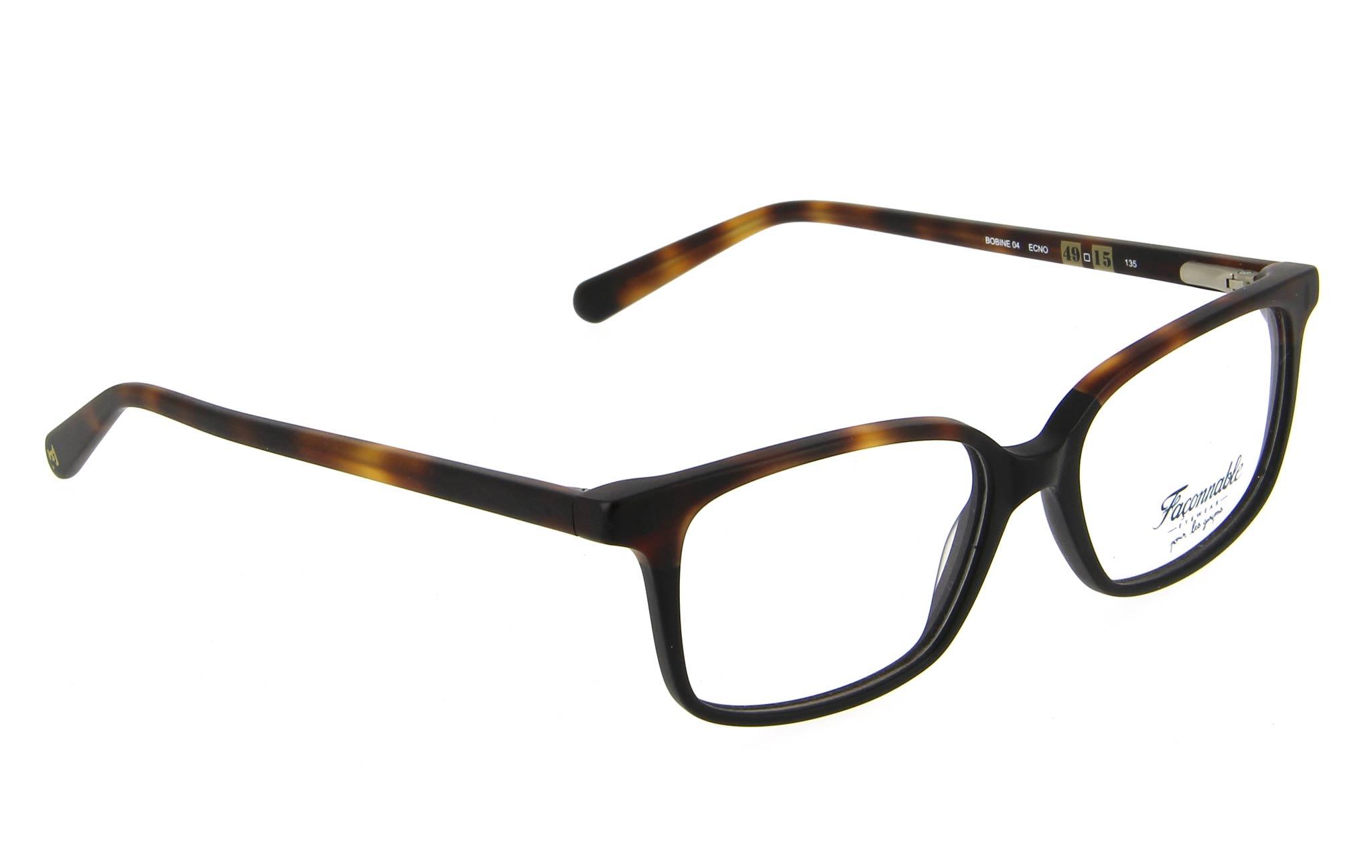 lunettes enfant faconnable bobine 04 ecno ecaille foncee