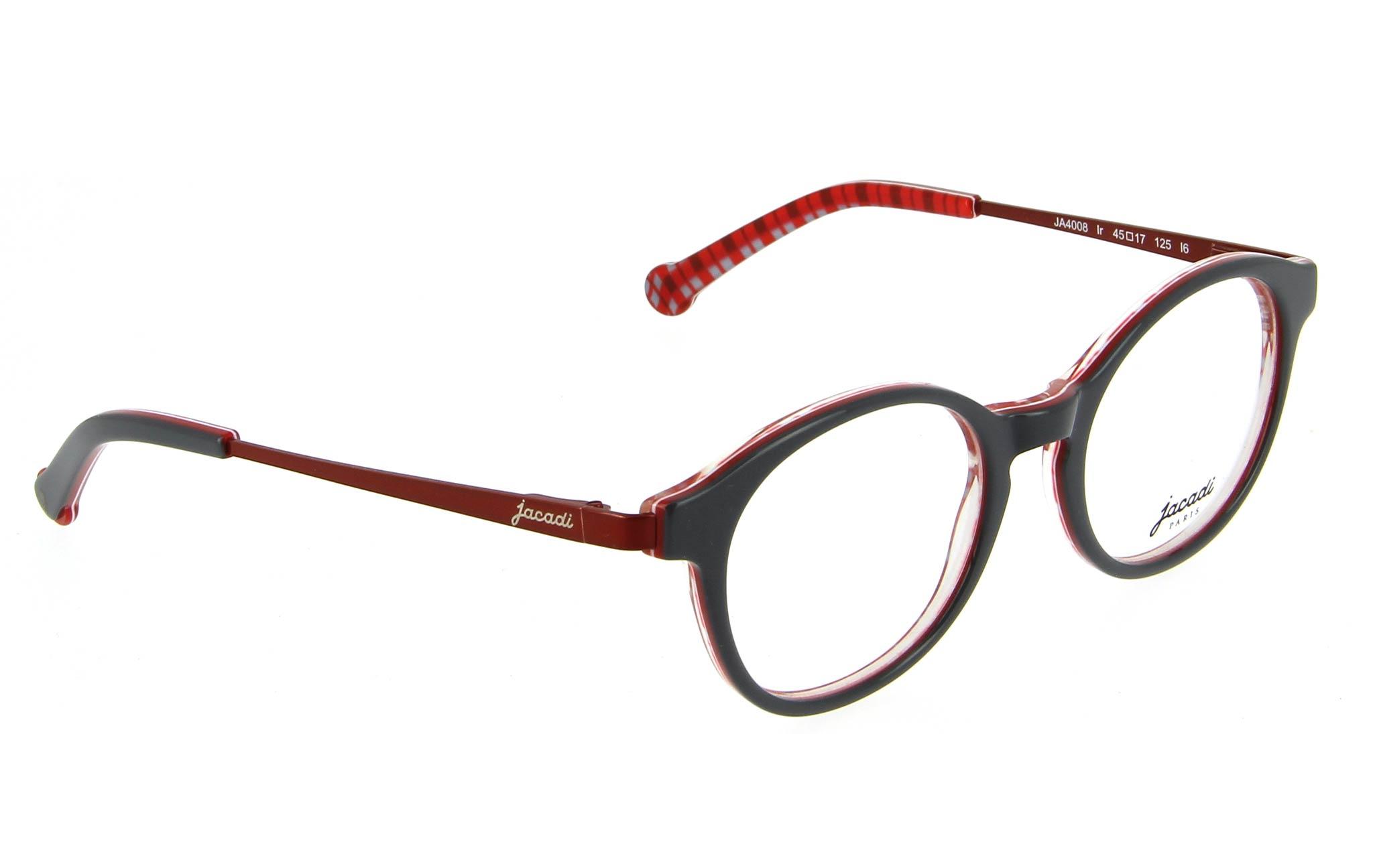 lunettes enfant jacadi ja4008 ir gris rouge