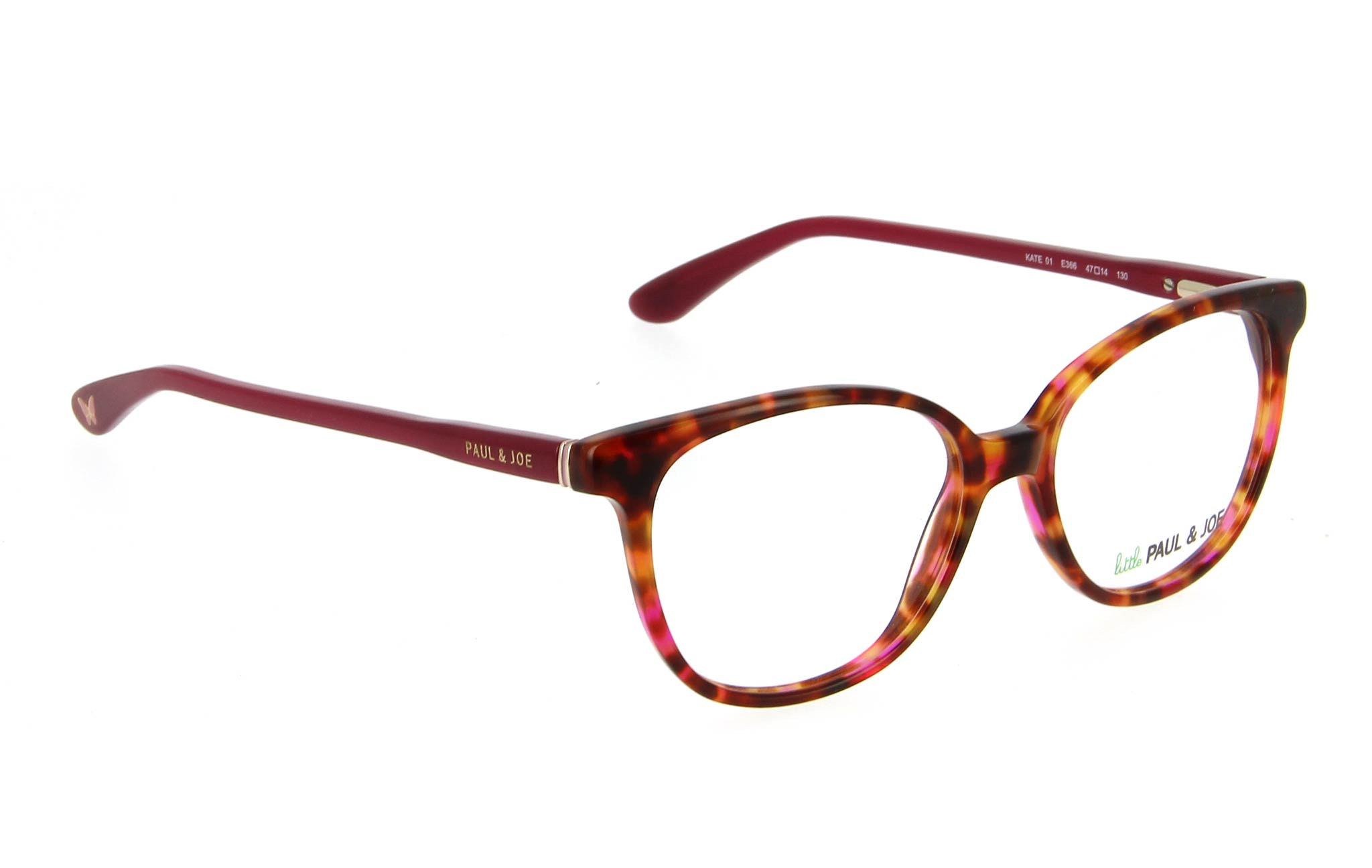 lunettes enfant little paul and joe kate 01 e366 ecaille rose