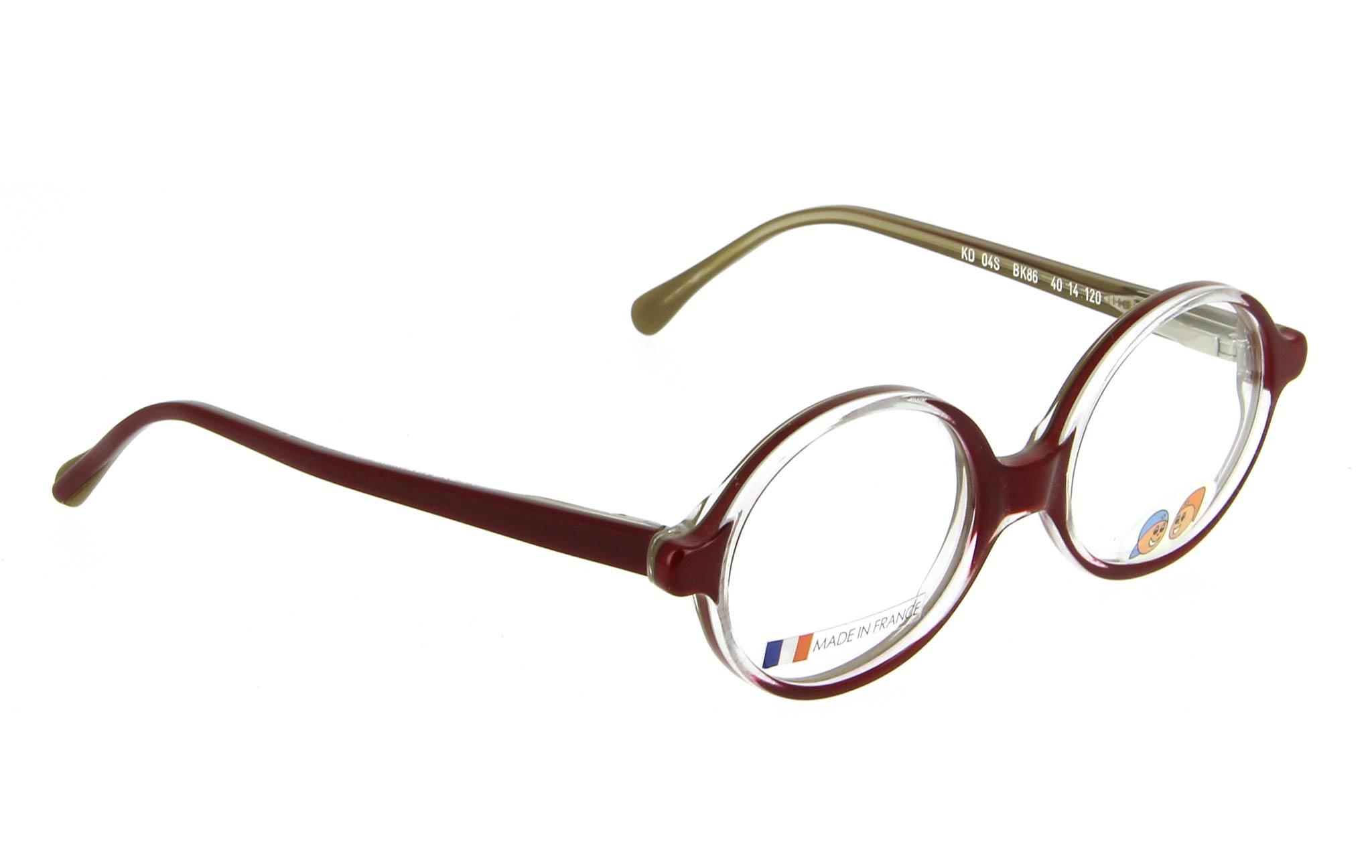 lunettes enfant pitchounes kd 04s bk86 bordeaux